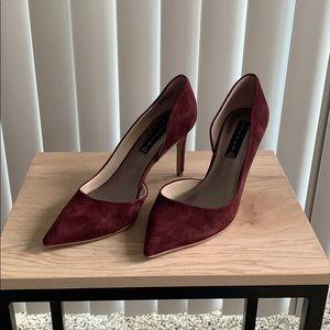 Steve Madden maroon suede heels